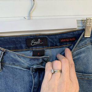 Earl Jeans Jeans - Earl Skinny Ankle Patchwork Raw Hem Jeans X